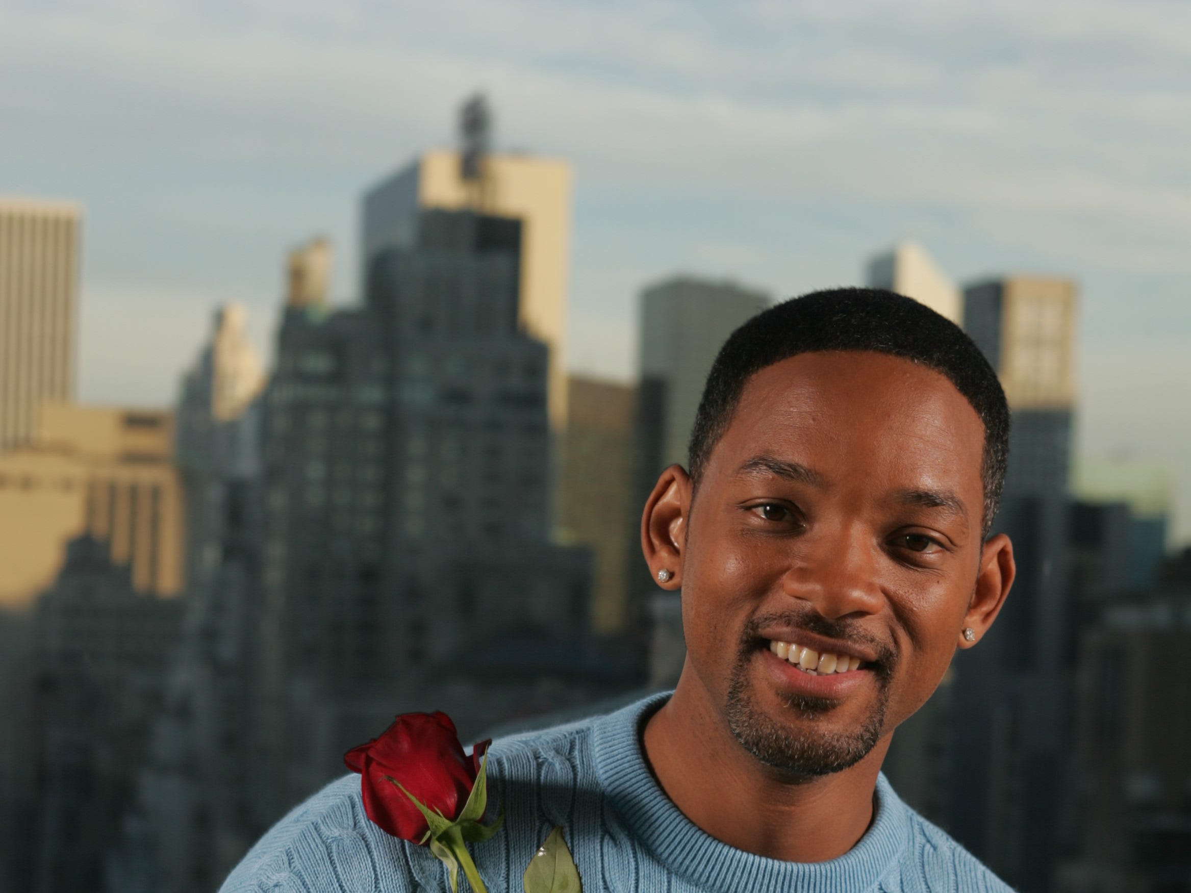 "Will Smith stars in the new romantic comedy ""Hitch."" Photographed at the Mandarin Oriental Hotel in New York while while promoting the film on Feb. 4, 2005."