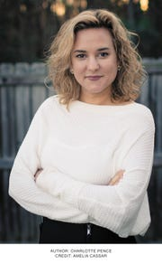 "Charlotte Pence, author of ""Where You Go: Life Lessons from My Father."""