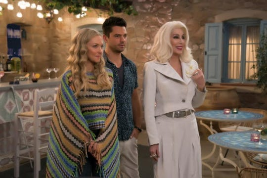 "Amanda Seyfried, left, is nominated for ""Mamma Mia! Here We Go Again."""