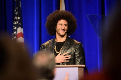 Colin Kaepernick files application to trademark image of his face and hair