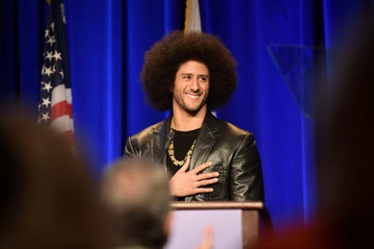 Colin Kaepernick is nominated for a People's Choice Award as a game changer.