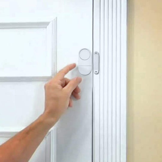 Secure your place with this magnetic alarm system for doors and windows, emitting a 90db alarm if activated.
