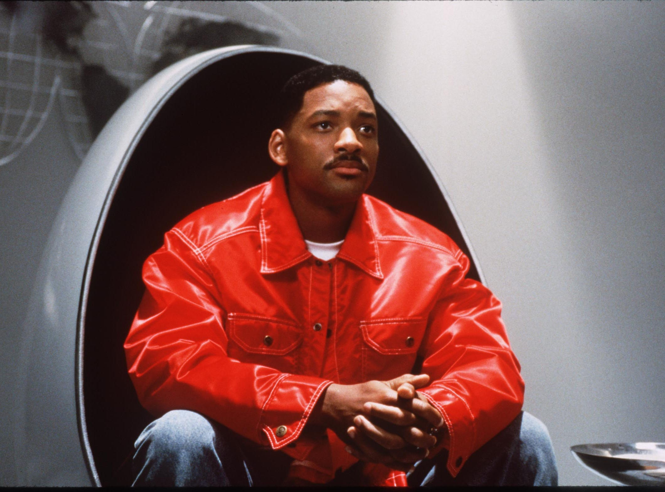 "Actor Will Smith in  the film ""Men in Black."""