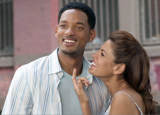 "Will Smith and Eva Mendes in a scene from the motion picture ""Hitch."""