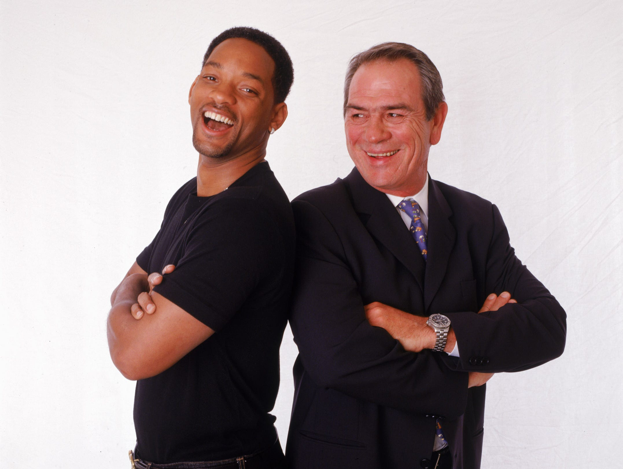 "Will Smith, left, and Tommy Lee Jones, stars of the motion picture ""Men in Black II"" in a photo taken on June 22, 2002."