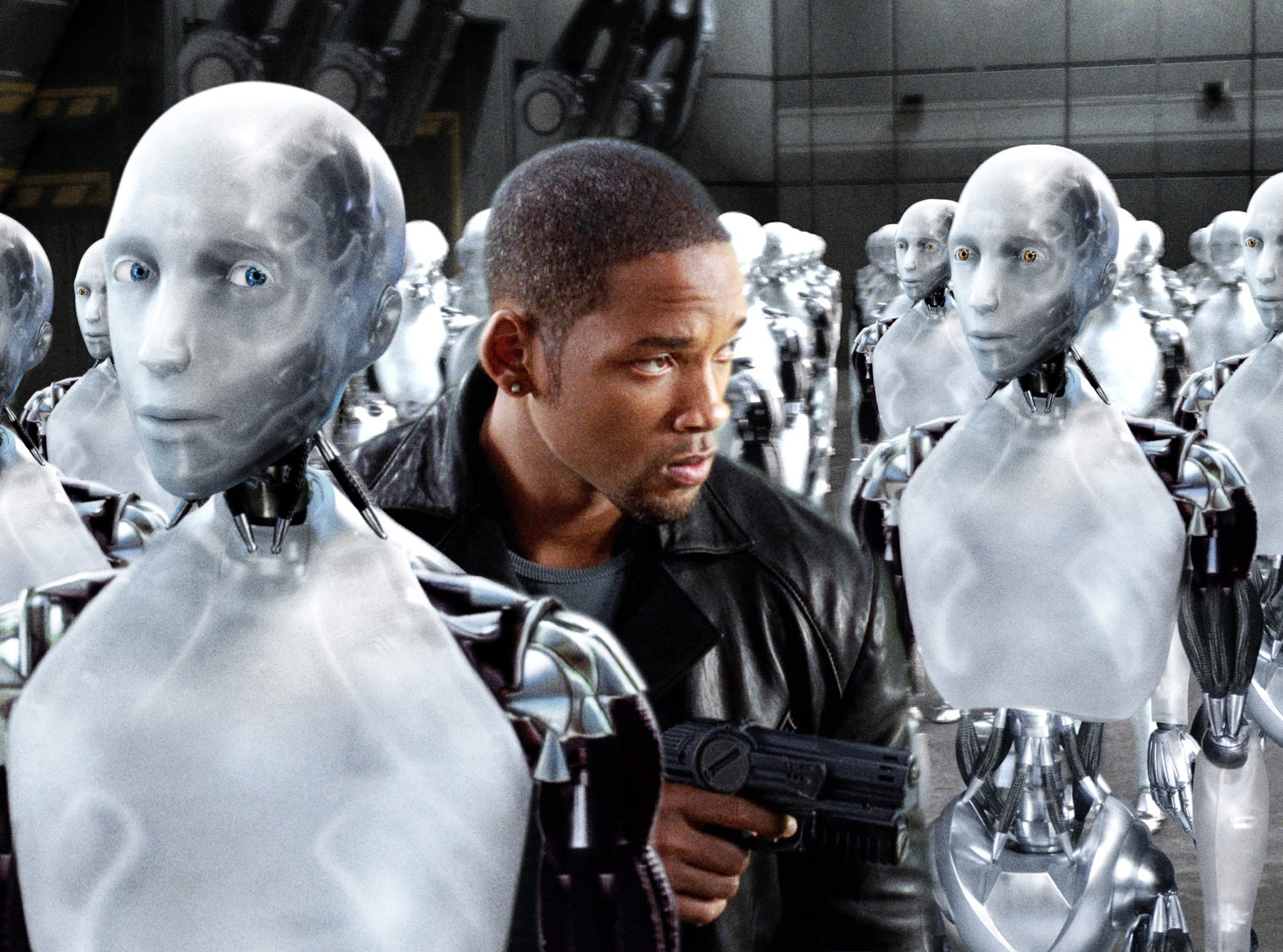 "Will Smith in a scene from the motion picture ""I, Robot."""
