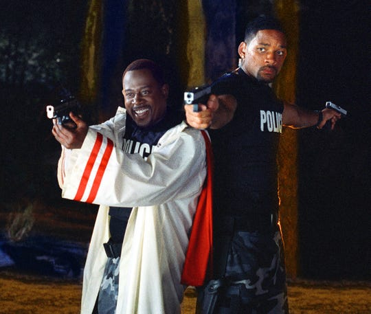 "Martin Lawrence and Will Smith in a scene from the motion picture ""Bad Boys II."""