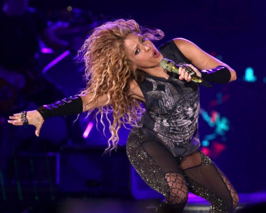 Ap Shakira In Concert New York A Ent Usa Ny