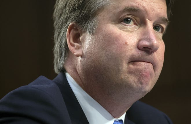 In this file photo taken on September 5, 2018 Judge Brett Kavanaugh testifies during the second day of his US Senate Judiciary Committee confirmation hearing to be an Associate Justice on the US Supreme Court, on Capitol Hill in Washington.