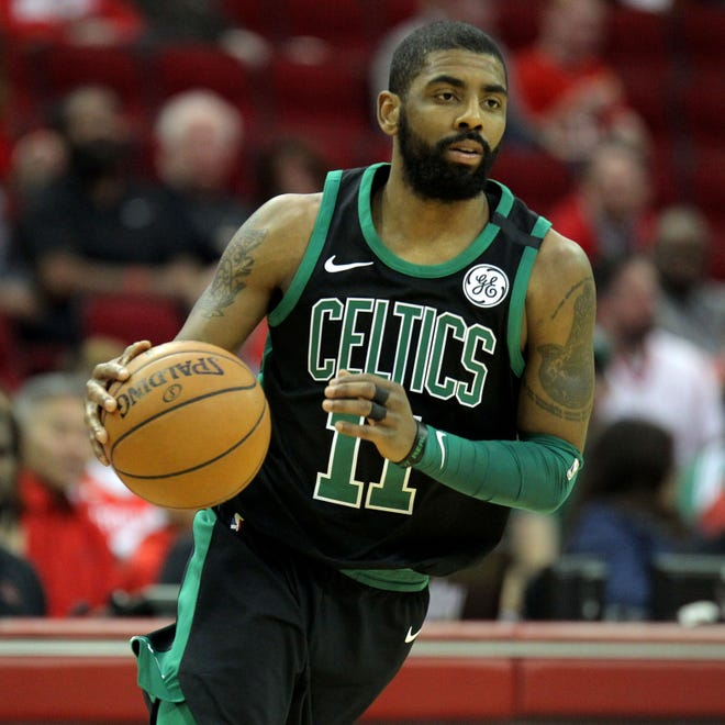 Kyrie Irving, who will be part of a star-studded free agent market next summer, is happy with where the Celtics are talent-wise.