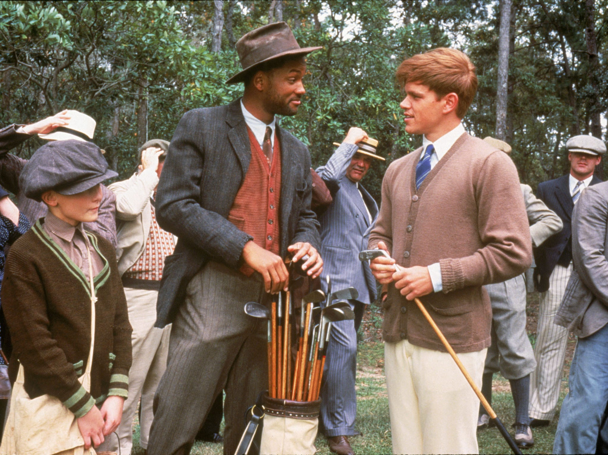 "Will Smith and Matt Damon in  the movie, ""The Legend of Bagger Vance."""