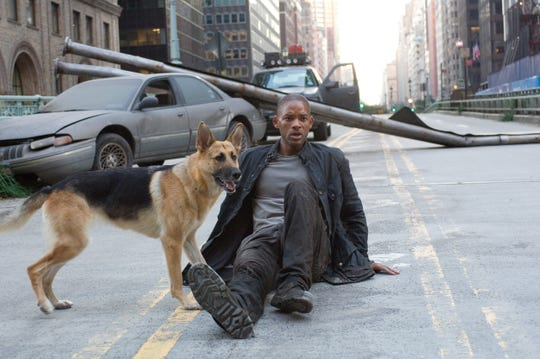 "Will Smith in a scene from the motion picture ""I Am Legend."""