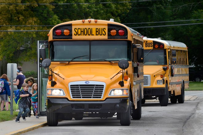 An Indiana school bus driver has been arrested after allegedly allowing students to drive her vehicle.