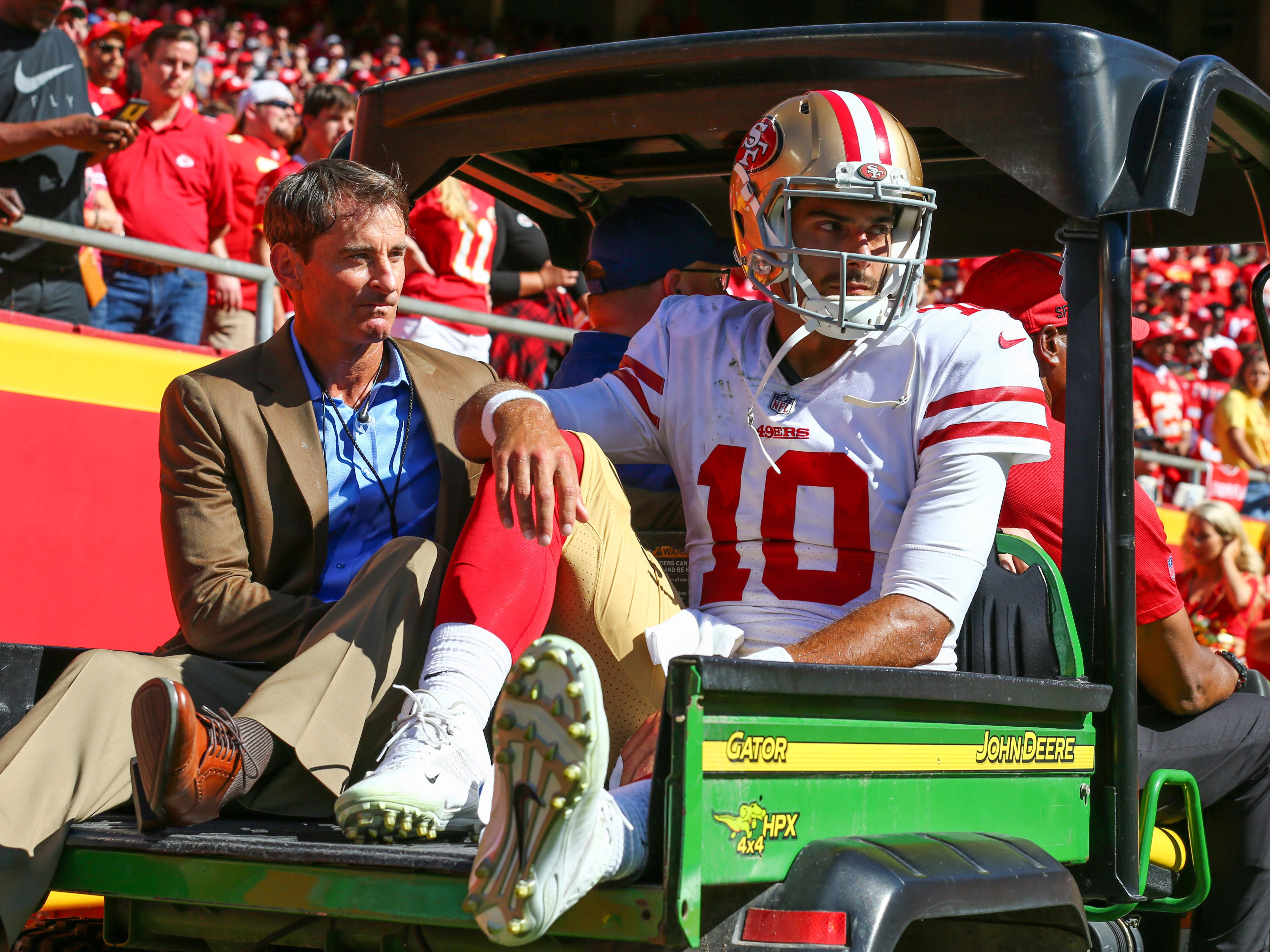 Jimmy Garoppolo, QB, San Francisco 49ers (torn ACL, out for season)