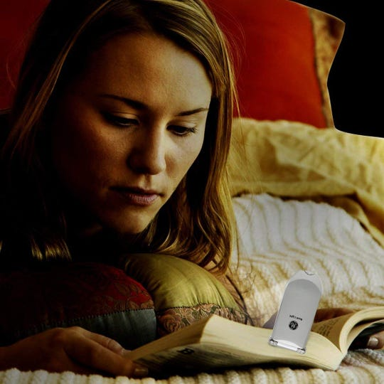 Read in the dark with this $1 clip-on LED booklight from GE.