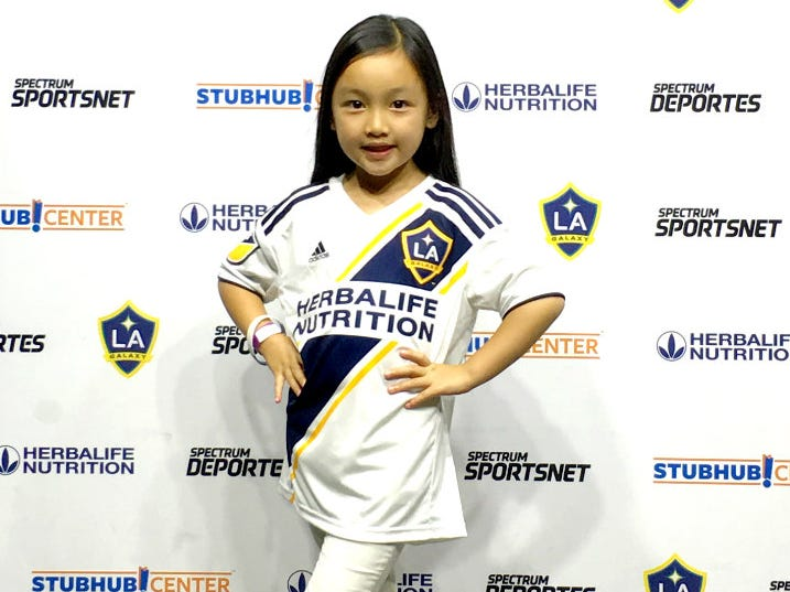 7-year-old crushes national anthem at LA Galaxy soccer match and we have major goosebumps