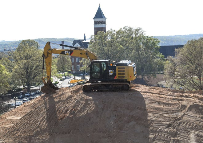 In 2018, construction continues for the $87 million, 170,000-square-foot Clemson University College of Business building, across from Sikes Hall and Bowman Field, is expected to be open in early 2020.