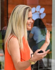 Ashleigh Gwarjanski, of Fort Payne, Alabama, and a Clemson campus tour guide, said winning the College Football Playoffs national championship in 2017 helped attract more students to the university.