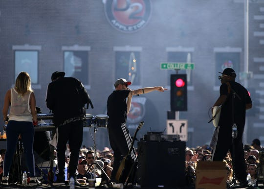 Too White Crew performs during Octoberfest in 2017.