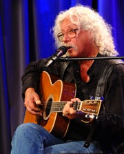 Arlo Guthrie performs at The GRAMMY Museum on April 9, 2012 in Los Angeles, California.