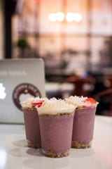 An acai parfait made with Greek yogurt at California Cold Co. in Manalapan.