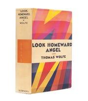 "A first edition of Thomas Wolfe's ""Look Homeward, Angel."""