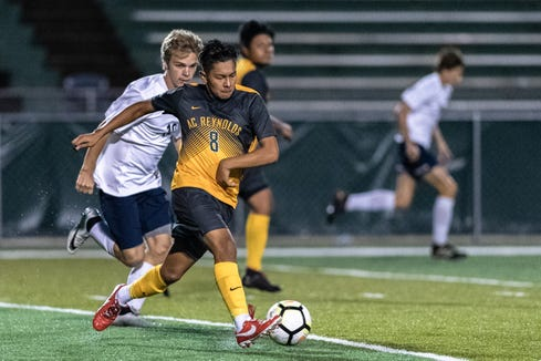 The Reynolds boys soccer team hosted Roberson for their game Sept. 24, 2018, winning 2-1.