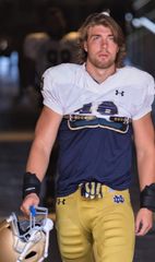 Harper Creek grad Brandon Hutson has seen his dream of playing for Notre Dame come true this season.