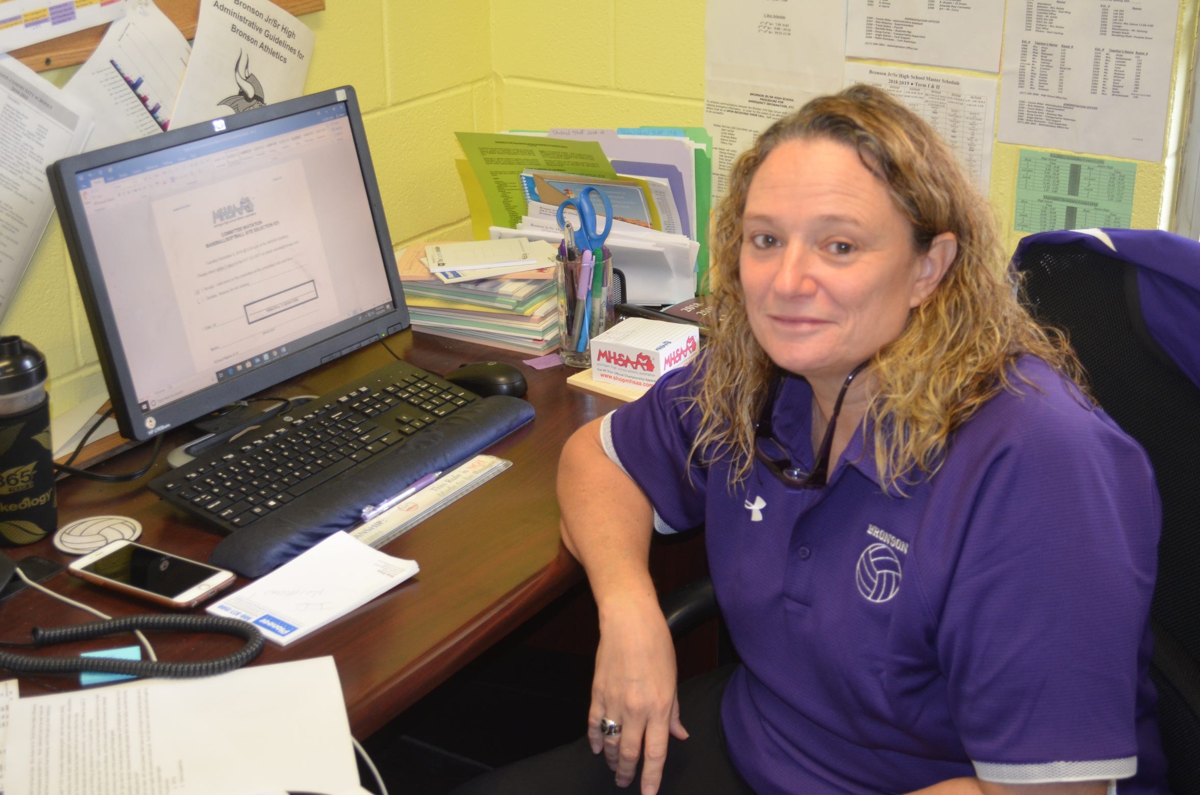 Bronson's Jean LaClair splits her day between being the schools Athletic Director and volleyball coach while also battling cancer.