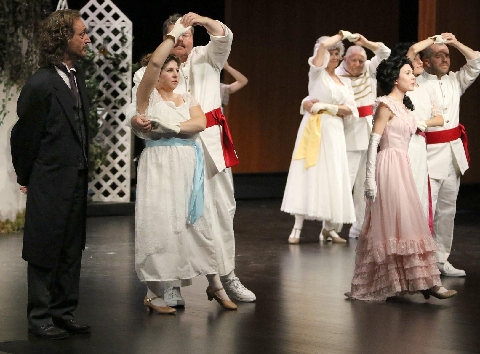 "CSTOCK rehearses ""Secret Garden"" at Olympic College's Harvey Theatre."