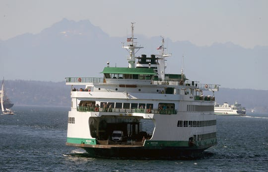 FILE PHOTO – The ferry Wenatchee carries passengers from Bainbridge Island to Seattle.