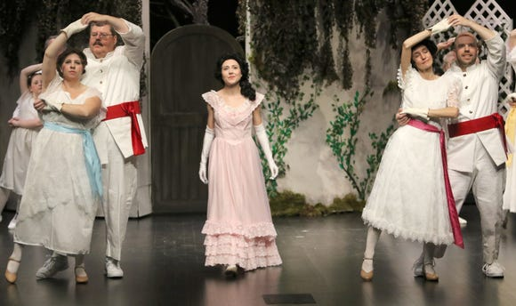 "Lily Craven is played by Briana Lobbett (middle) in CSTOCK's production of ""The Secret Garden,"" the first musical theater piece to be performed in the new William D. Harvey Theatre at Olympic College."