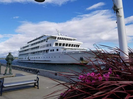 The 175-passenger American Constellation visited Bremerton on Saturday.