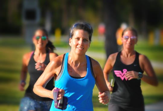 Kara Turey is a runner and a breast cancer survivor. She was diagnosed with breast cancer in October, had surgery in December, did chemo January though April. She was doing a Thursday night fun run with friends at the Running Zone for a run through Wickham Park.