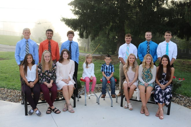 The Lucas Homecoming Queen will be announced during the Oct. 5 game. The dance will take place Oct. 6. The court includes, from left, front,Kylie Collins, Trinity Kinnard, Paige Arnold, Kamryn Smith, Gunner Norris, Emily Niswander, Kennedy Paige and Brooke Niswander; and back,Grant Barrett, Ethan Sauder, Carson Hauger, Jeb Grover, Rylan Wallace and Gavin Shindeldecker.