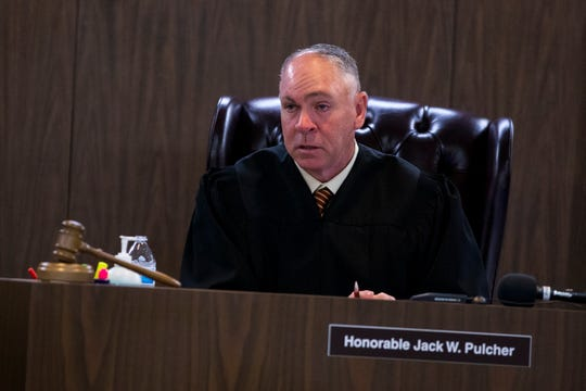 105th District Judge Jack Pulcher hears a motion in the capital murder case of David Davila before opening statements on Tuesday, September 25, 2018. Davila is accused in the fatal shooting of 13-year-old Alex Torres.