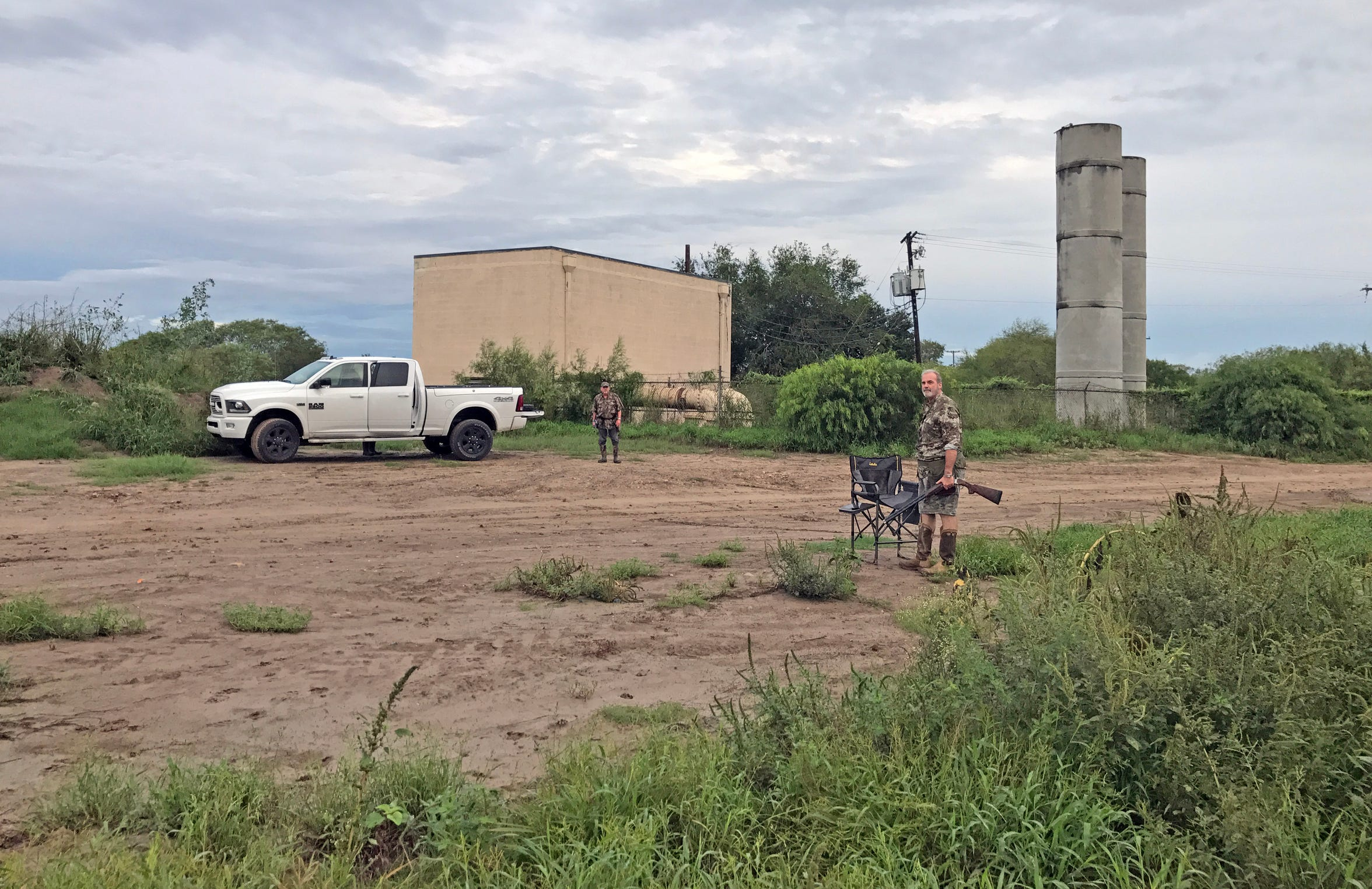 If you recognize this scene, then chances are you have hunted in the Rio Grande Valley, where these water pumps and towers are common.