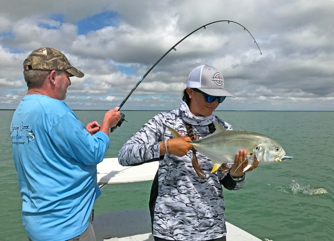 We found one jack crevalle among a school of drum in the Lower Laguna Madre near Laguna Vista.