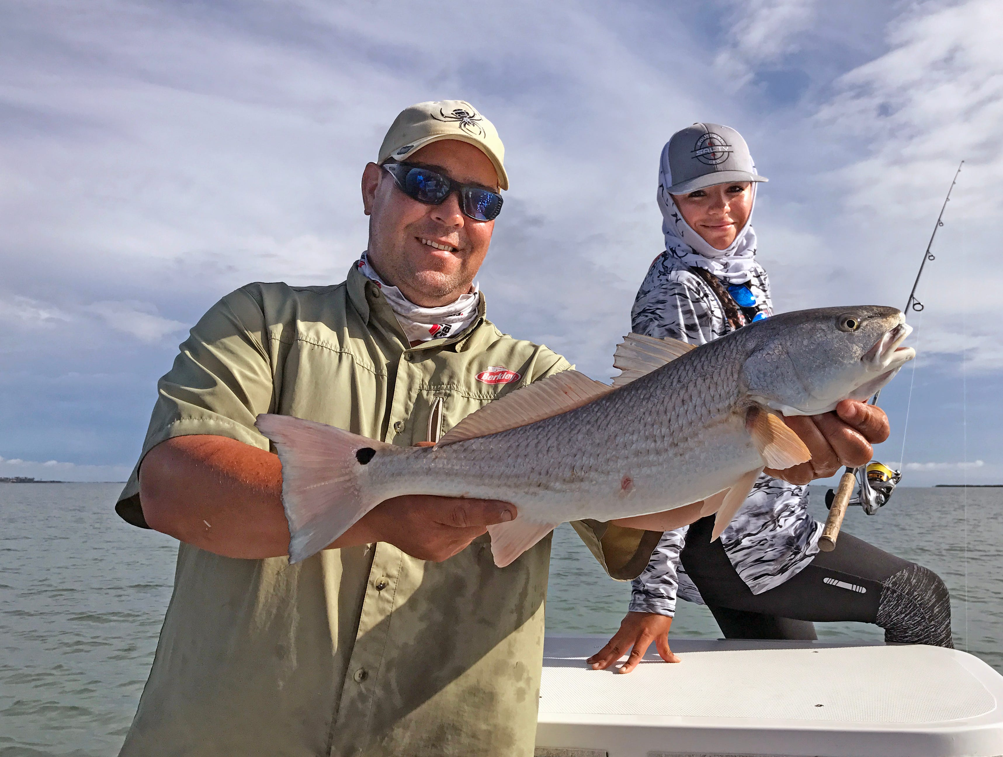Capt. Mike Mahl found redfish, trout and drum on a shallow seagrass flat near Laguna Vista.