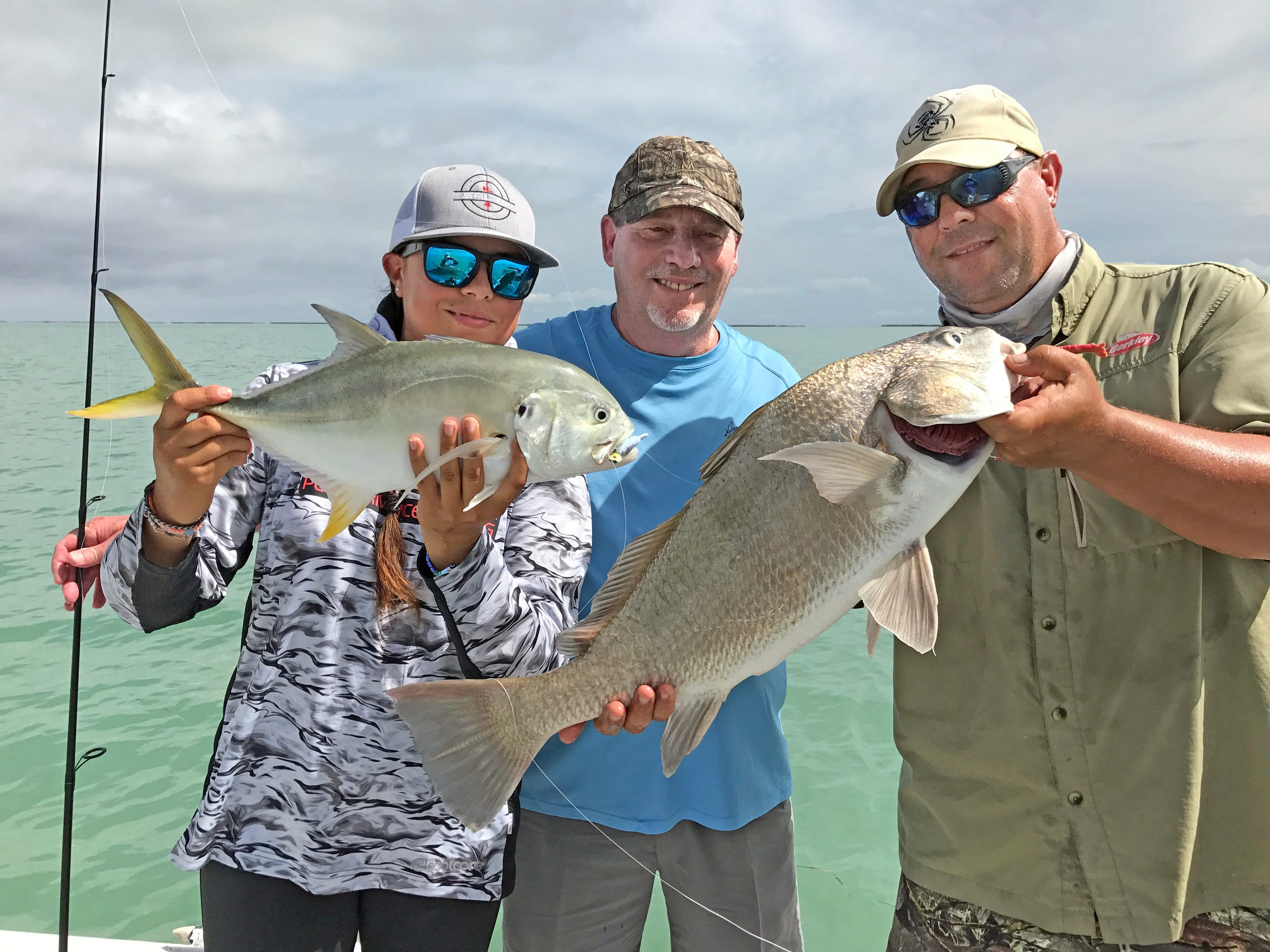 Mike Mahl found several schools of black drum in a clear tide.