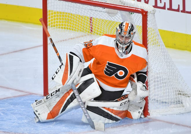 Carter Hart has outperformed the competition between the pipes during training camp for the Flyers.
