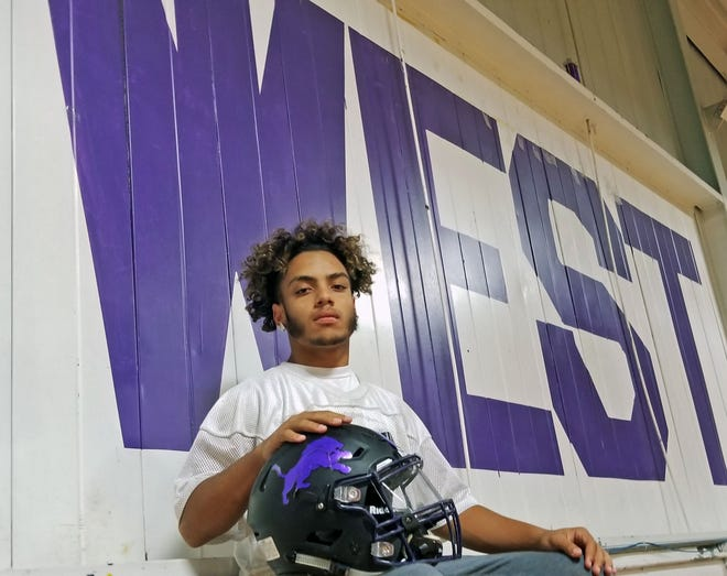 Cherry Hill West senior Carlos Gomez ran for 213 yards and three scores in the Lions' big win over Seneca last Friday.