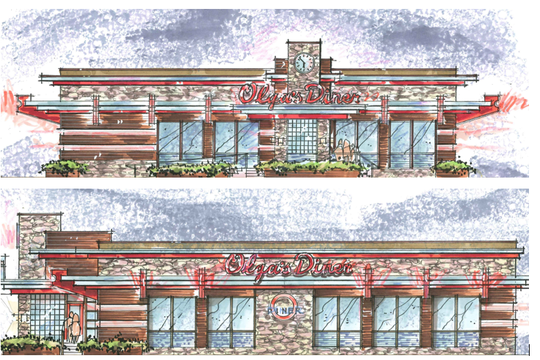 A new Olga's Diner is expected to rise on northbound Route 73 at Baker Boulevard in Evesham.