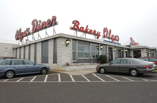 The now-demolished Olga's Diner at routes 70 and 73 is shown in an April 2003 file photo.