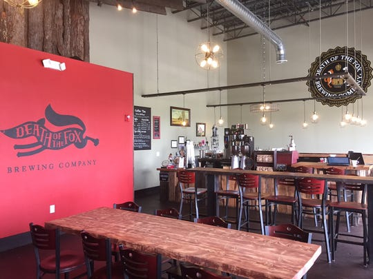 The Death of the Fox tasting room in East Greenwich Township serves both craft beer and coffee drinks.