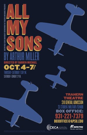 APSU Department of Theatre and Dance to present Arthur Miller's 'All My Sons'