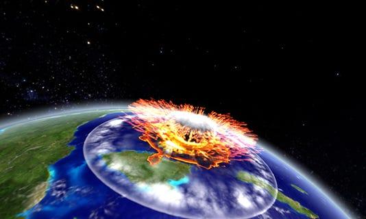 Dino Killer Image Illustrates Asteroid Hitting Earth 65 Million Years Ago Exploding Universe Show