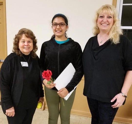 Left to right) JHC Membership Liason Carole Auletta, Maina Shaevitz and Kat Britt, director.