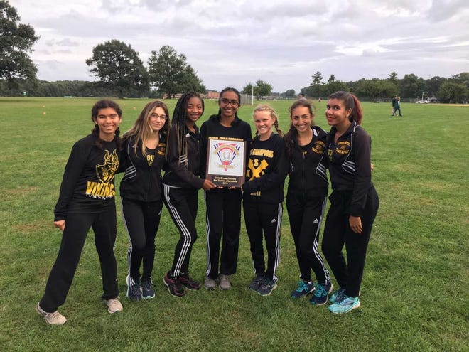 The South Brunswick girls cross country team after winning the GMC Red Division meet on Sept. 24.