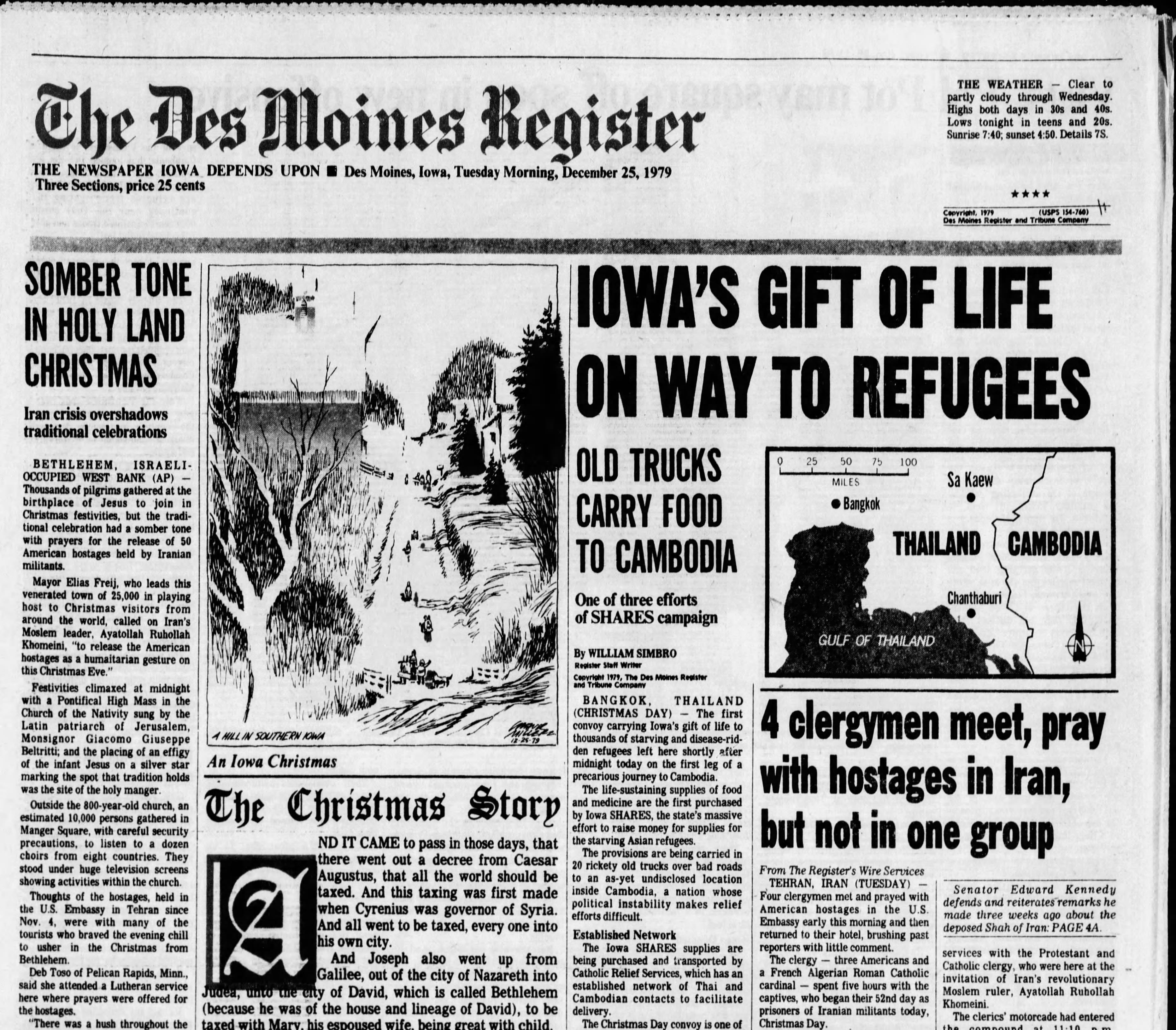 Iowans learn the Iowa SHARES program donations reached Cambodian refugees on Christmas morning 1979.